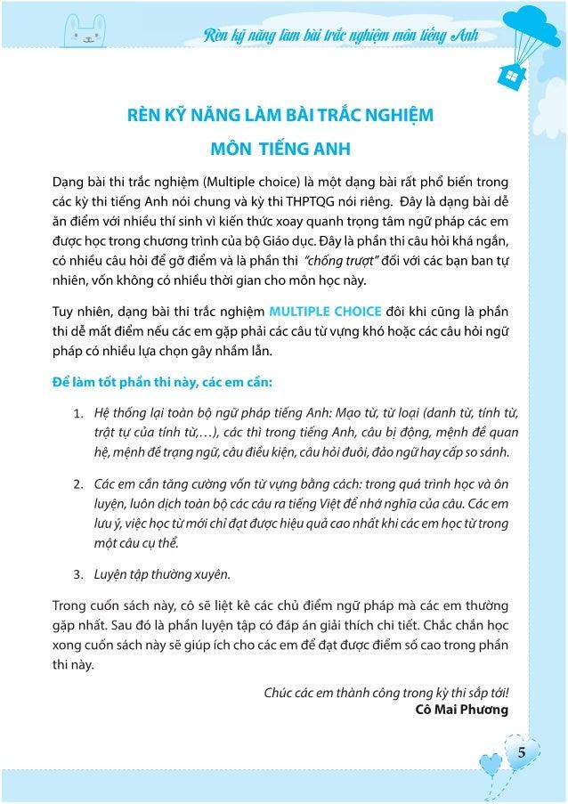Đọc thử - Rèn kỹ năng làm bài trắc nghiệm môn Tiếng Anh THPT Quốc Gia cô Mai Phương