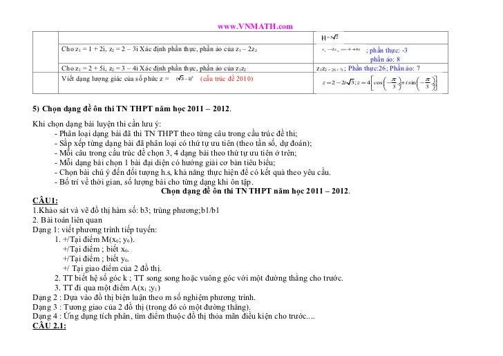 www.VNMATH.com                                                                                  z =5 2        Cho z1 = 1 +...