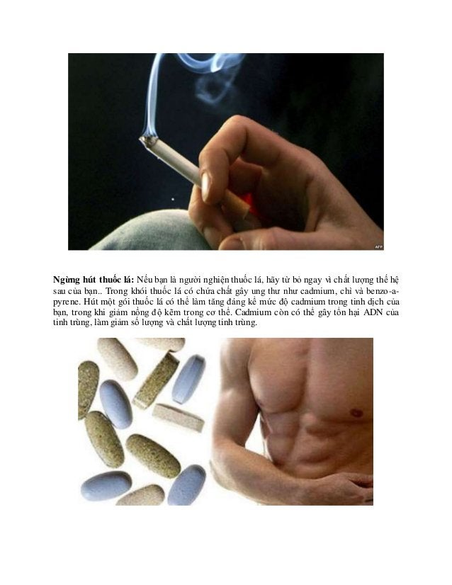 Làm sao phòng tinh trùng yếu hiệu quả nhất Ngừng hút thuốc lá: Nếu bạn là người nghiện thuốc lá, hãy từ bỏ ngay vì chất lư...
