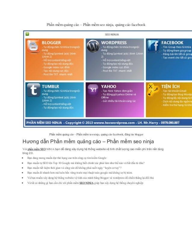 Phần mềm quảng cáo – Phần mềm seo ninja, quảng cáo facebook  Phần mềm quảng cáo – Phần mềm seo ninja, quảng cáo facebook, ...