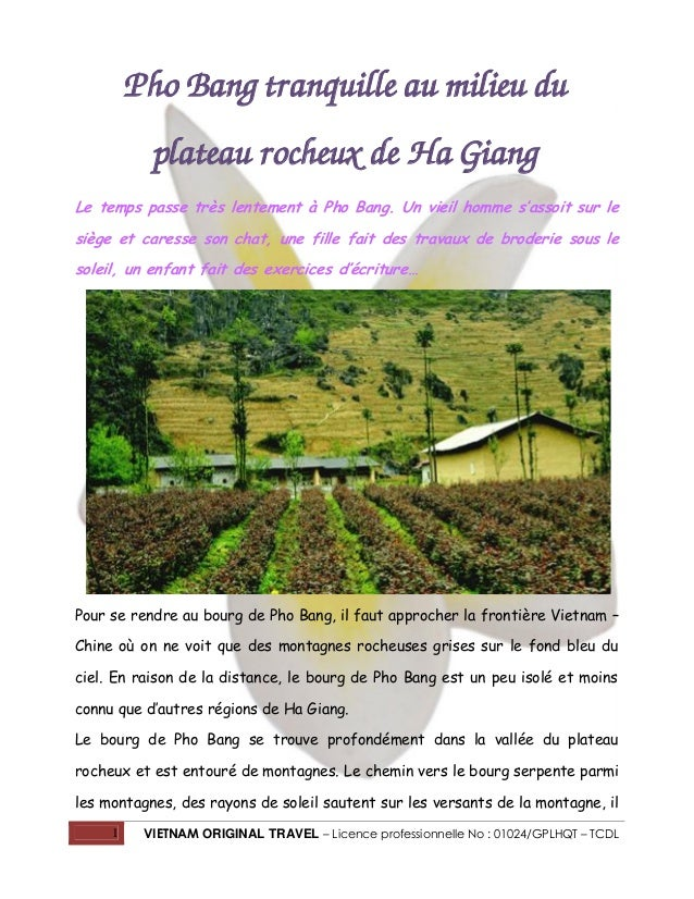 Pho Bang tranquille au milieu du plateau rocheux de Ha Giang Le temps passe très lentement à Pho Bang. Un vieil homme s'as...