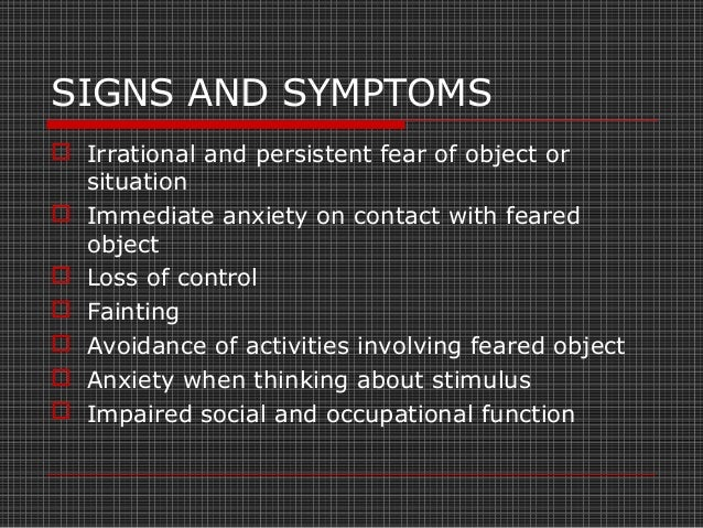  Irrational fear of performing activities in the presence of other people or interacting with others  Patient is afraid ...