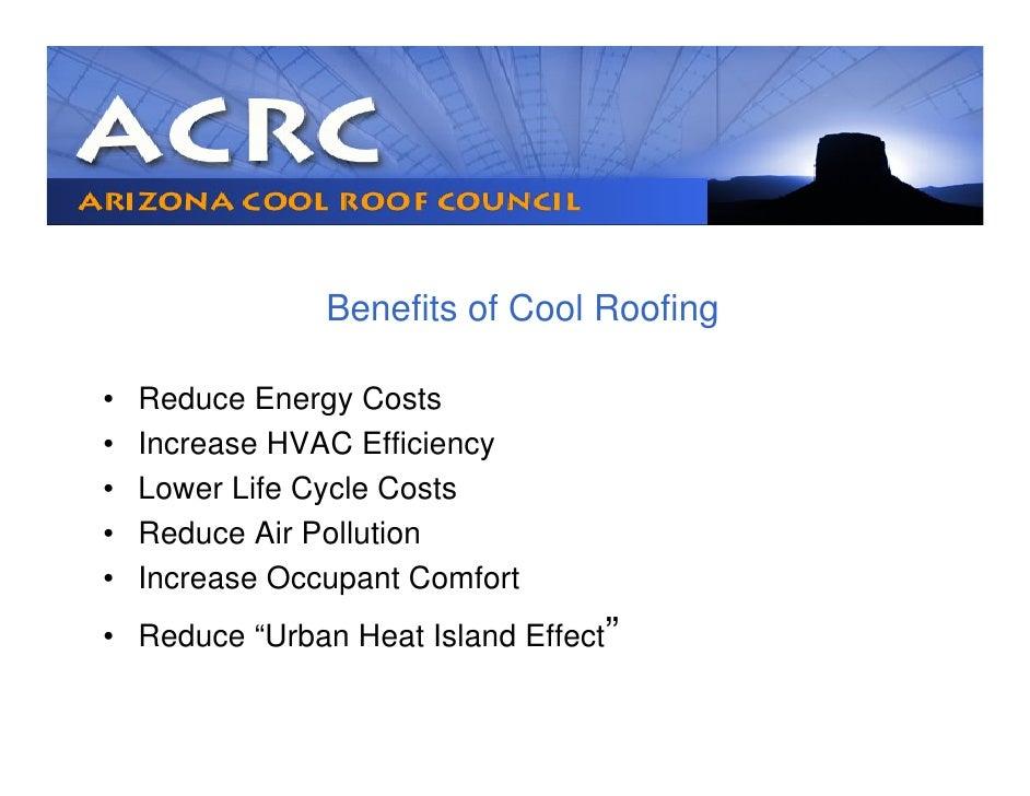 Phoenix Arizona Cool Roof Council Presentation