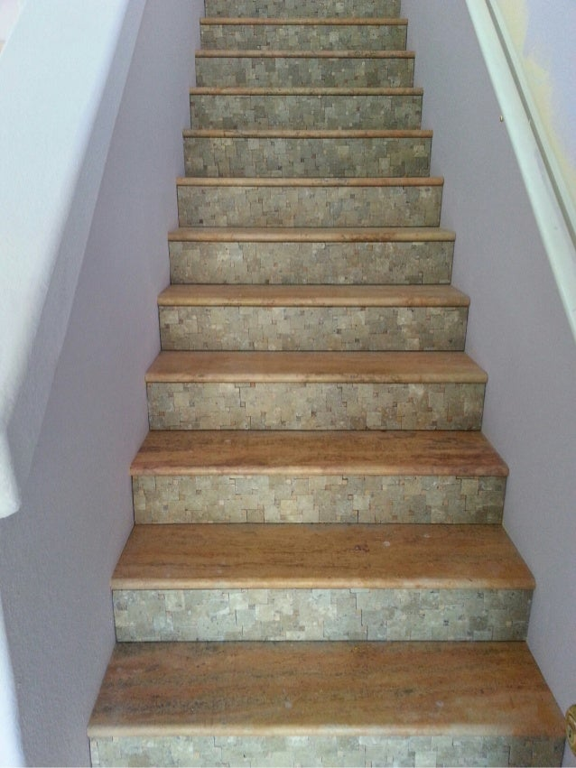 Phoenix Travertine Tile Stair Treads amp Risers Design Ideas