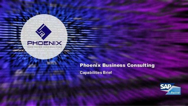 Phoenix Business Consulting Capabilities Brief