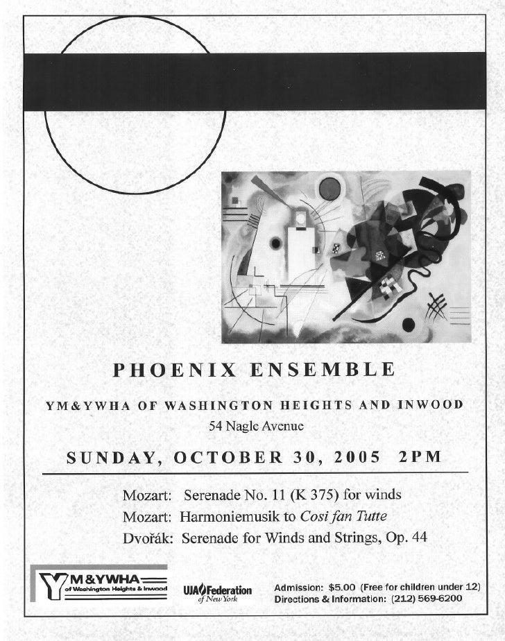 Phoenix Ensemble Oct 30th Flyer