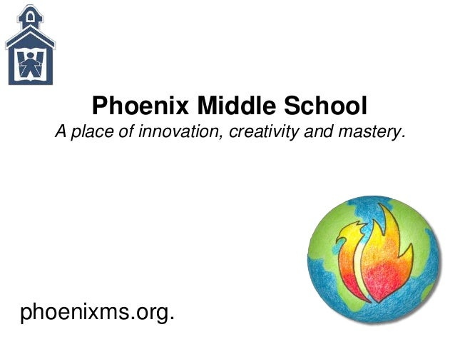 Phoenix Middle School A place of innovation, creativity and mastery. phoenixms.org.