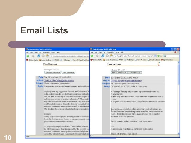Email Lists  10