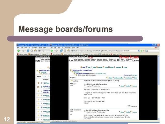 Message boards/forums  12  Collaboration Workshop