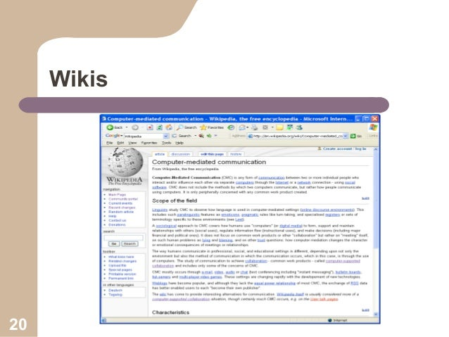 Wikis  20