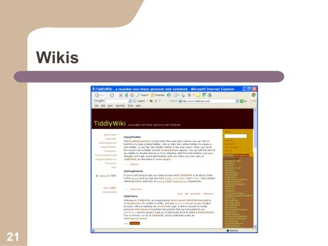 Wikis  21