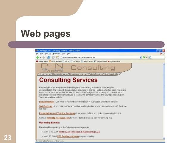 Web pages  23  Collaboration Workshop
