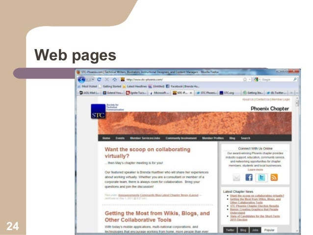 Web pages  24
