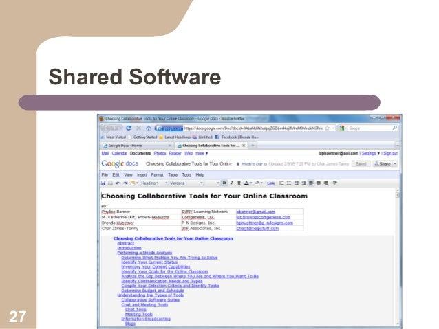 Shared Software  27