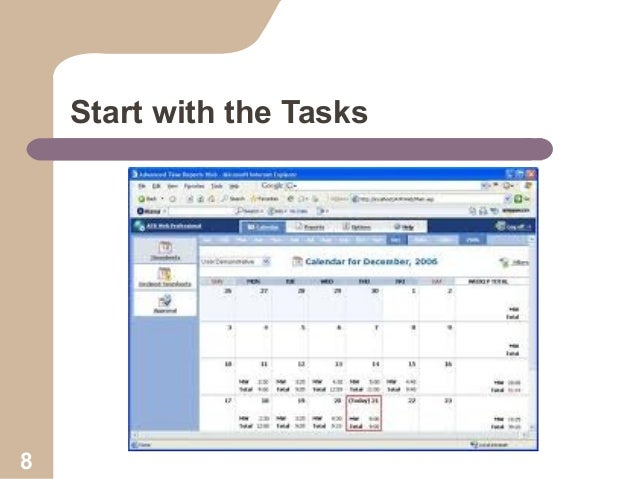 Start with the Tasks  8