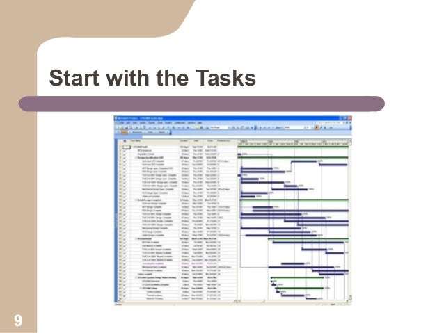Start with the Tasks  9