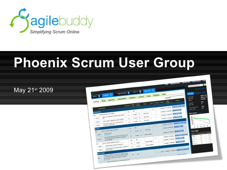 Simplifying Scrum Online     Phoenix Scrum User Group May 21st 2009