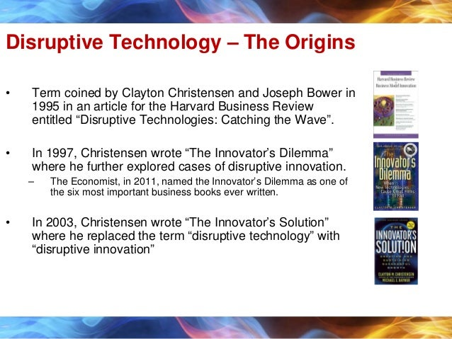 summary of article disruptive technologies catching This definition explains the meaning of disruptive technology and how it contrasts with sustaining technologies we also list examples of disruptive technologies dating back to the invention of the telephone.