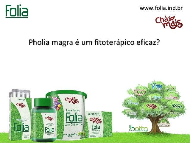 www.folia.ind.brPholia magra é um fitoterápico eficaz?