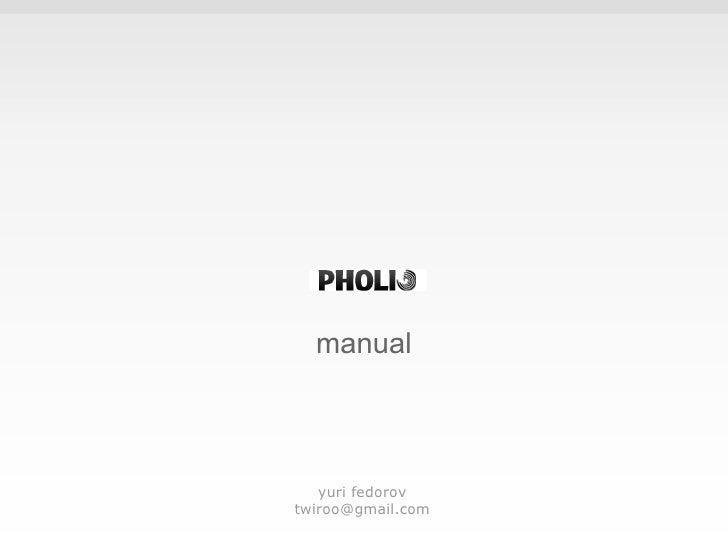 manual yuri fedorov [email_address]