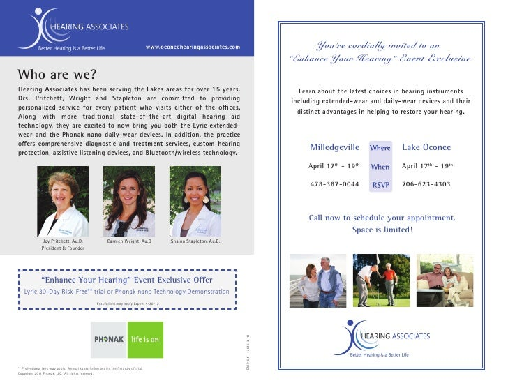 www.oconeehearingassociates.com                              You're cordially invited to an                               ...