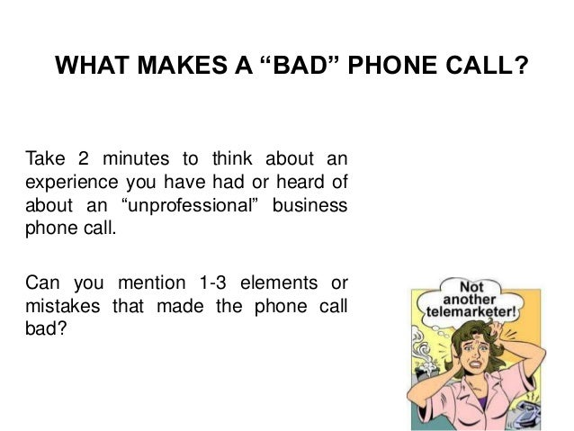 Phone call etiquette and success by Mario Kanaan