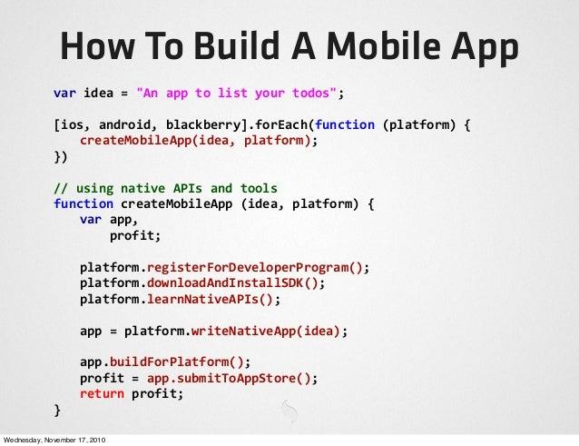 PhoneGap Talk @ Sencha Con 2010 Slide 3
