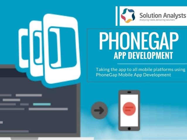 PhoneGap App Development Company India- Solution Analysts