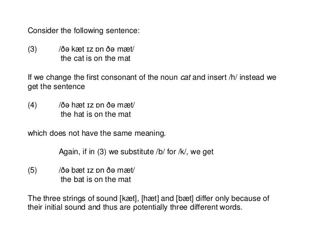 Phonemes and allophones Slide 2