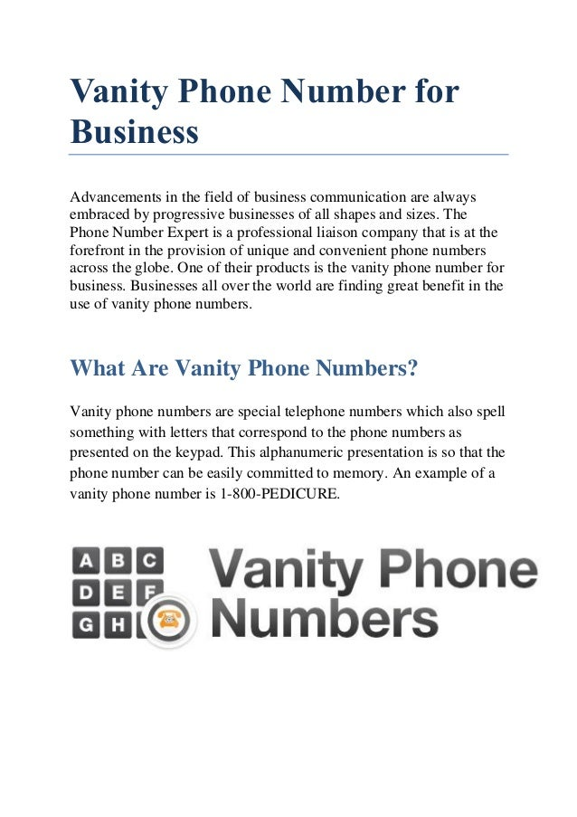 Vanity Phone Number For Business Advancements In The Field Of Business  Communication Are Always Embraced By ...