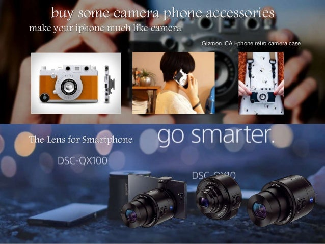 buy some camera phone accessories make your iphone much like camera Gizmon ICA i-phone retro camera case The Lens for Smar...