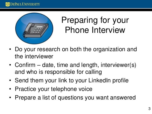 preparing for your phone interview - How To Prepare For A Phone Interview