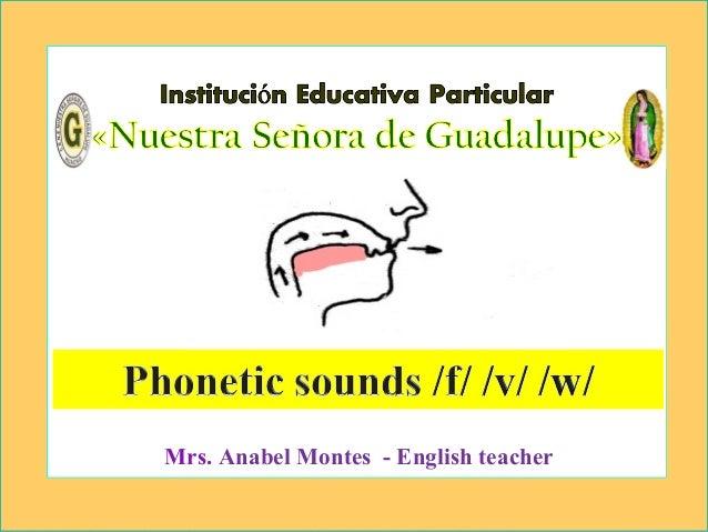 por Anabel Mrs. Anabel Montes - English teacher