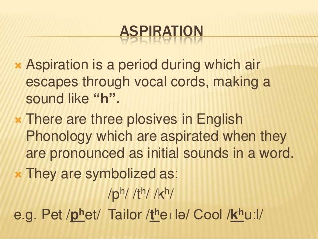 aspirated sounds in english
