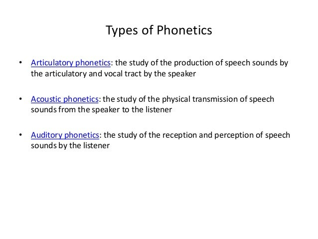 Methods of phonetics analysis