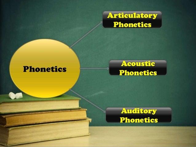 Articulatory phonetics -the study of the production of speech by the organs of speech by the speaker.