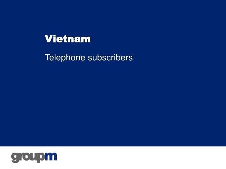 VietnamTelephone subscribers