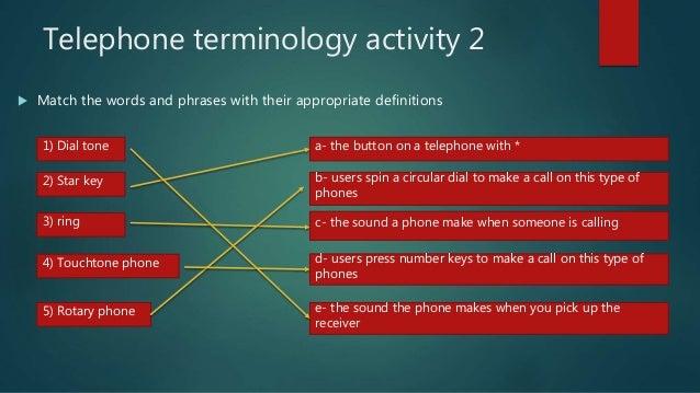Phone terminology