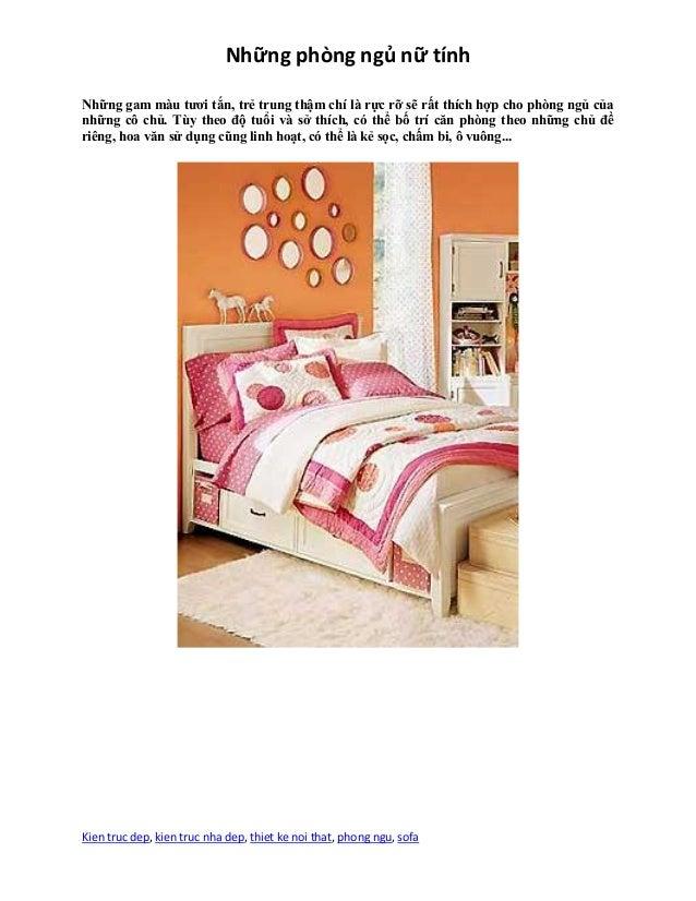 Những phòng ngủ nữ tính Kien truc dep, kien truc nha dep, thiet ke noi that, phong ngu, sofa Những gam màu tươi tắn, trẻ t...