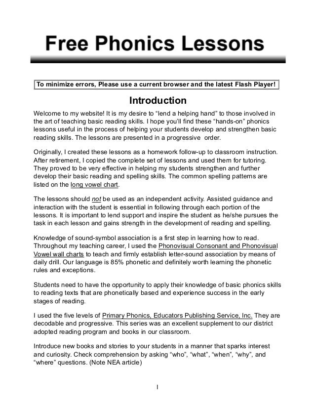 the reading lesson by richard murphy essay The mises library is an extensive online offering of the literature and media of the austrian  an essay on economic  ludwig von mises in one lesson the.