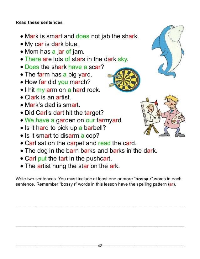 Worksheets Phonic Sentences phonics lessons 41 49 read these sentences