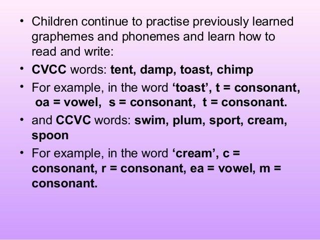 Premise Indicator Words: Phonics Meeting Parents Powerpoint