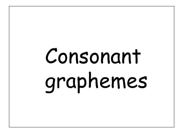 Consonantgraphemes