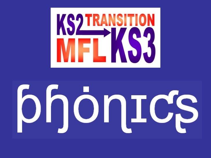 Phonics in KS2 and KS3 Slide 1