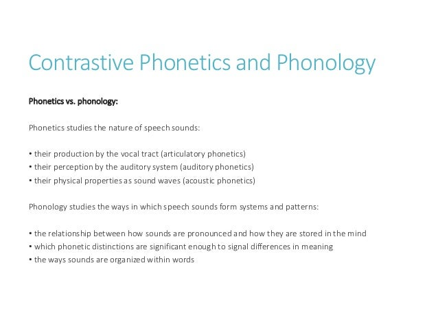 phonological ca