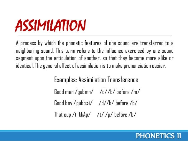 Phonological Processes Phonetics Ii