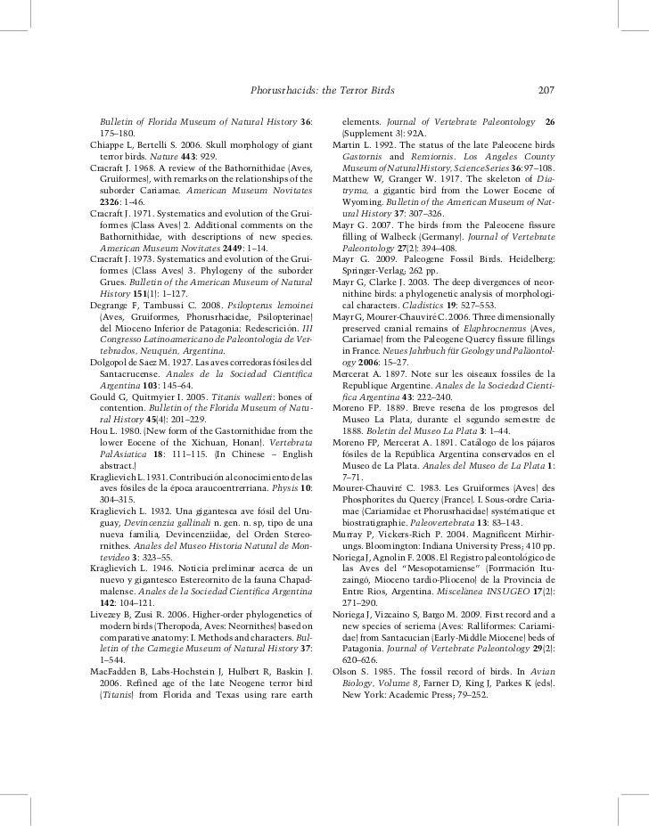 Phorusrhacids: the Terror Birds                                        207  Bulletin of Florida Museum of Natural History ...