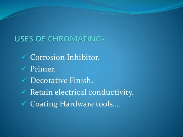 Phosphating and chromating