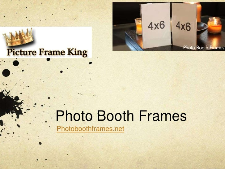 Wholesale Photo Booth Frame Company Picture Frame King