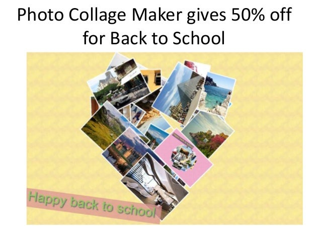 Photo Collage Maker gives 50% off for Back to School